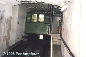 the car at the top station
